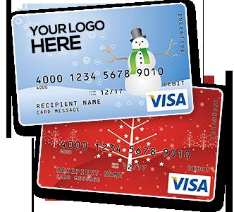 Visa-Card gebrandet
