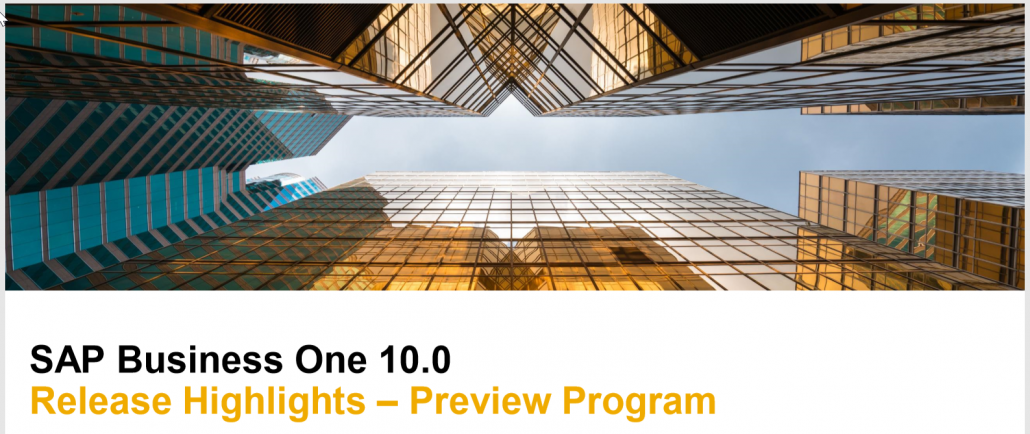 SAP Business One 10