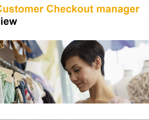 SAP Customer Checkout manager Schnellauswahl