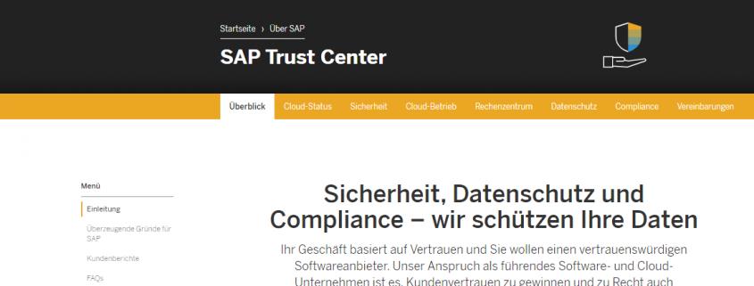 SAP Trust Center