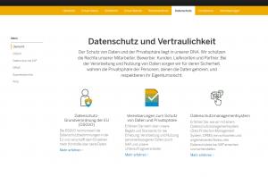 SAP Trust Center - Datenschutz