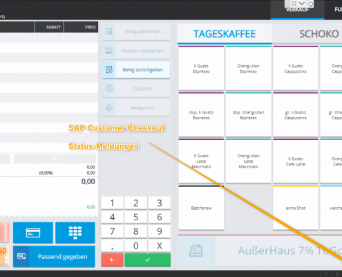 SAP Customer Checkout Statusbar