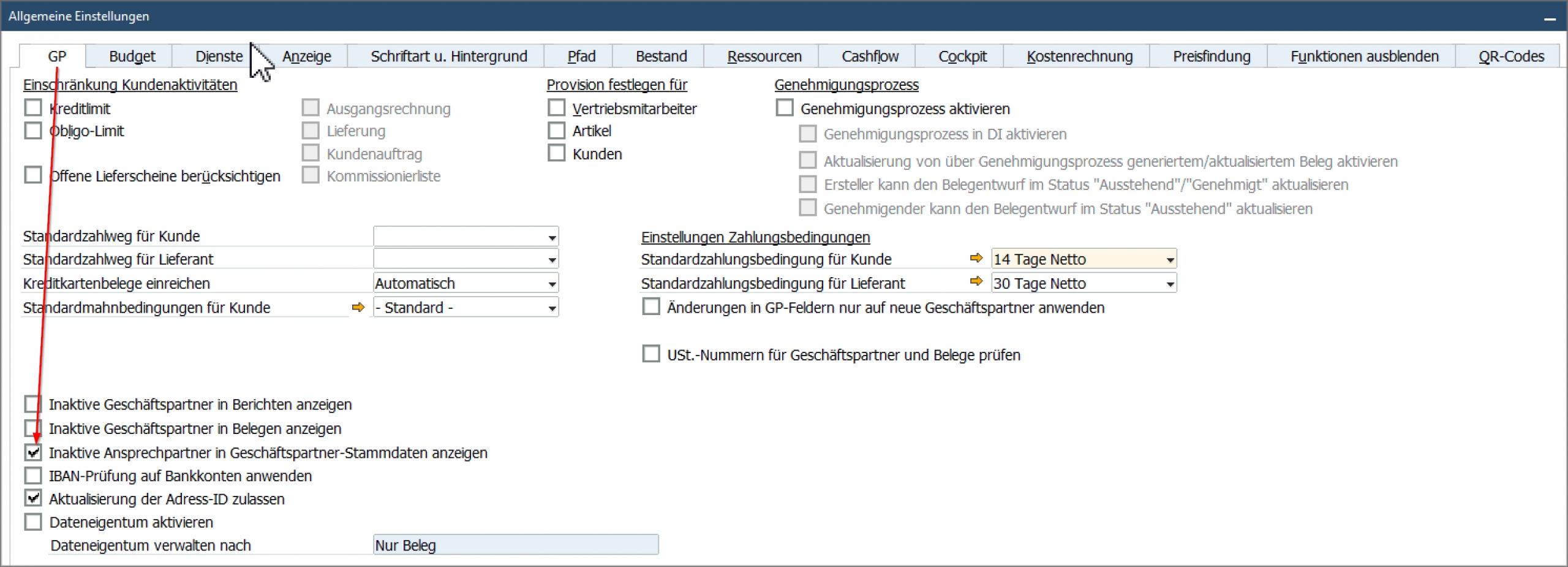 SAP Inaktive Ansprechpartner