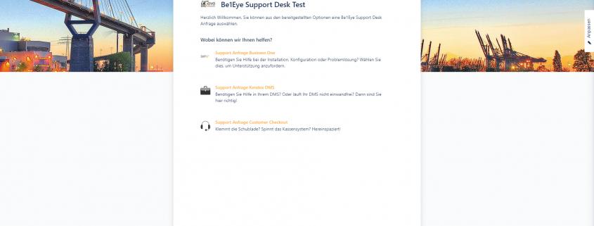 Be1Eye Support Desk